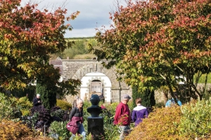 Walled gardens with autumnal foliage